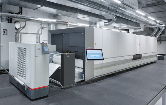 Contiweb DFA in Kyburz's new production line.